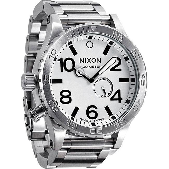 Nixon 51-30 Men's White Dial Stainless Steel Watch