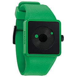 Nixon Men's Newton Green LED Light Watch