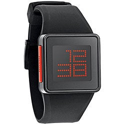 Nixon Men's Newton Black Digital Silicone Strap Watch