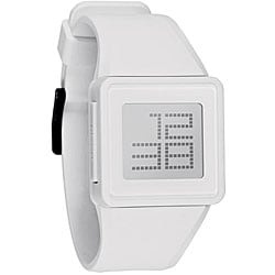 Nixon Men's Newton White Digital Silicone Strap Watch