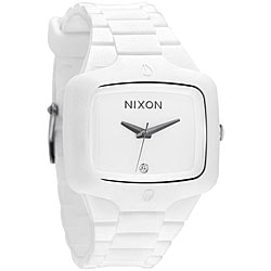 Nixon Rubber Player White Molded Silicone Watch