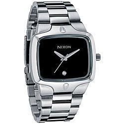 Nixon Men's 'Player' Black Dial Stainless Steel Watch