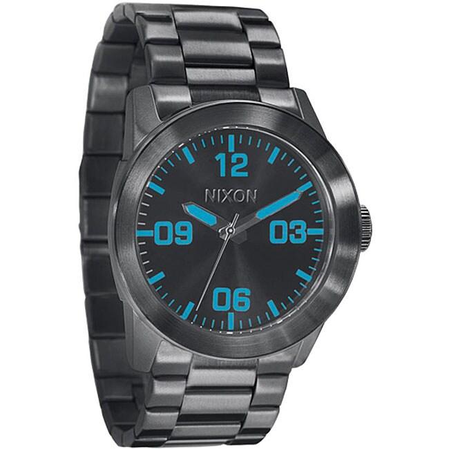 Nixon Private Men's Gunmetal Stainless Steel Watch