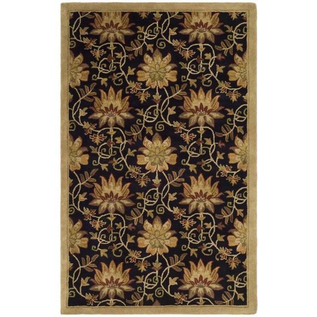 Safavieh Handmade Jardine Chocolate/ Beige Wool Rug (8' x 10')