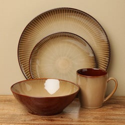 Sango Focus Brown 16-piece Dinnerware Set