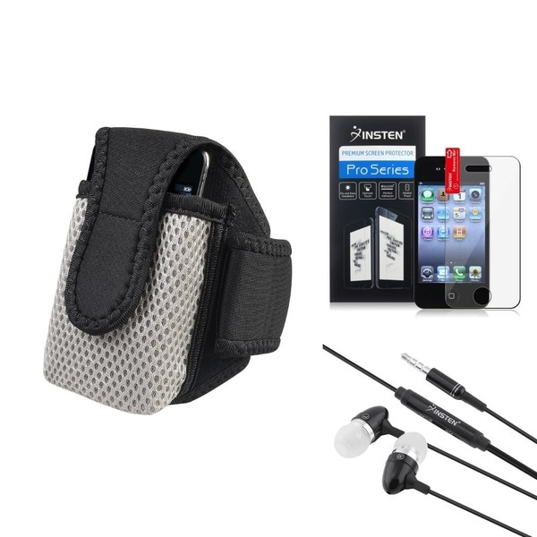 INSTEN 3-piece Armband and Headset for Apple iPhone 4