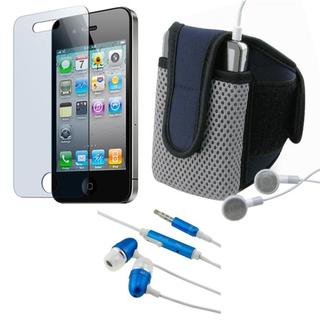 BasAcc LCD Protector/ Armband/ Headset for Apple iPhone 4