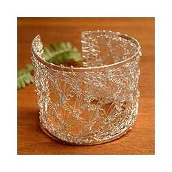 Silver 'Andean Lace' Cuff Bracelet (Peru)