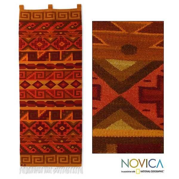 Wool 'Inca Warmth' Tapestry (Peru)