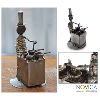 Iron 'Rustic Chef' Sculpture (Mexico)