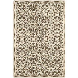 Safavieh Handmade Moroccan Cambridge Brown Wool Rug (3' x 5')