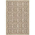 Safavieh Handmade Moroccan Cambridge Brown Wool Rug (3' x 5')