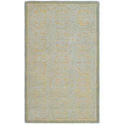 Safavieh Handmade Moroccan Cambridge Blue Wool Rug (3' x 5')