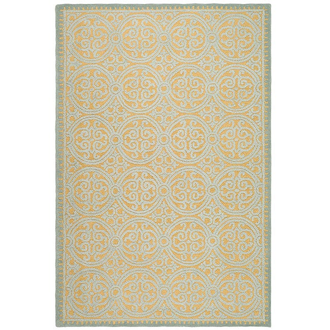 Safavieh Handmade Moroccan Cambridge Blue Wool Rug (4' x 6')