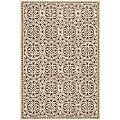 Safavieh Handmade Moroccan Cambridge Brown Wool Rug (5' x 8')