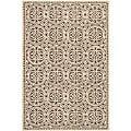 Safavieh Handmade Moroccan Cambridge Brown Wool Rug (5' x 8')