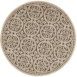 Safavieh Handmade Moroccan Cambridge Brown Wool Rug (6' Round)