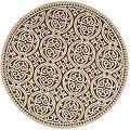 Safavieh Handmade Moroccan Cambridge Brown Wool Rug (8' Round)
