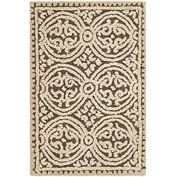 Safavieh Handmade Moroccan Cambridge Brown Wool Rug (2' x 3')