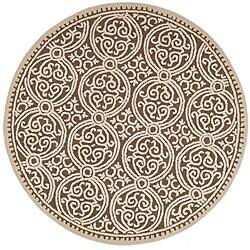Safavieh Handmade Moroccan Cambridge Brown Wool Rug (4' Round)