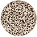 Safavieh Handmade Moroccan Cambridge Brown Wool Rug (4' Round)