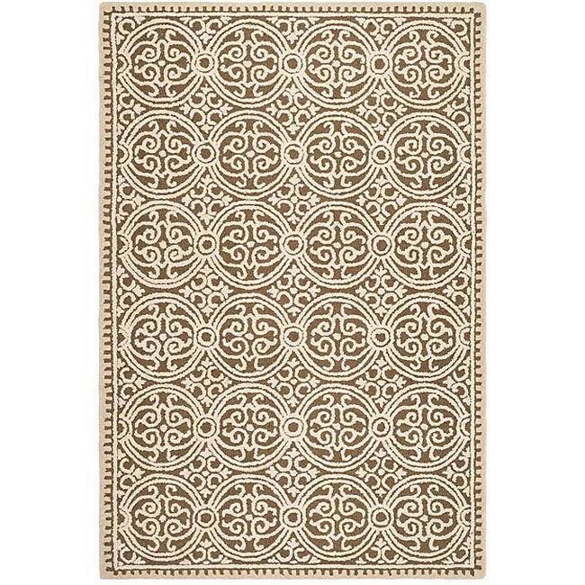 Safavieh Handmade Moroccan Cambridge Brown Wool Rug (6' x 9')