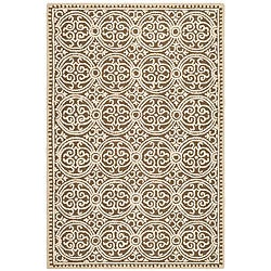 Safavieh Handmade Moroccan Cambridge Brown Wool Rug (8' x 10')