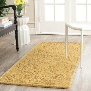 Safavieh Handmade Moroccan Cambridge Gold Wool Rug (2'6 x 6')