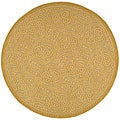 Safavieh Handmade Moroccan Cambridge Gold Wool Rug (6' Round)