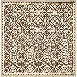 Safavieh Handmade Moroccan Cambridge Brown Wool Rug (6' x 6')