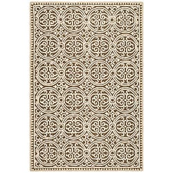 Safavieh Handmade Moroccan Cambridge Brown Wool Rug (9' x 12')