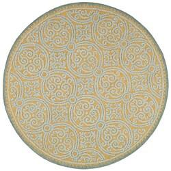 Safavieh Handmade Moroccan Cambridge Blue Wool Rug (6' Round)