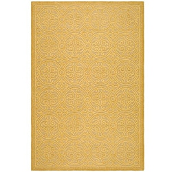 Safavieh Handmade Moroccan Cambridge Gold Wool Rug (9' x 12')