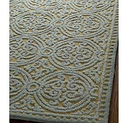 Safavieh Handmade Moroccan Cambridge Blue Wool Rug (2'6 x 12')