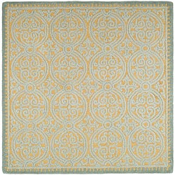 Safavieh Handmade Moroccan Cambridge Blue Wool Rug (6' x 6')