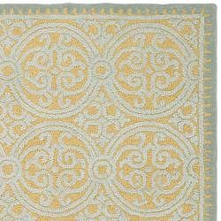 Safavieh Handmade Moroccan Cambridge Blue Wool Rug (8' x 10')