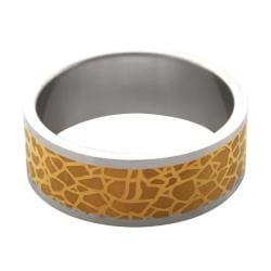 Stainless Steel Two-tone Nature Print Band