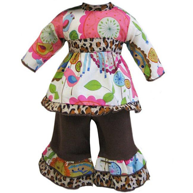 AnnLoren Wild Jungle 2-piece American Girl Doll Outfit