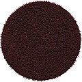 Hand-woven Brown Chenille Shag Rug (3' Round)