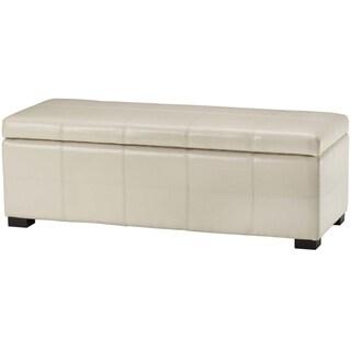 Safavieh Madison Cream Bicast Leather Storage Bench
