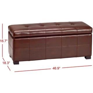 Safavieh Maiden Tufted Cordovan Bicast Leather Storage Bench