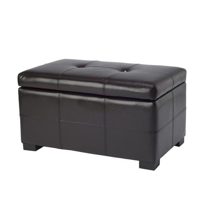 Safavieh Maiden Tufted Brown Bicast Leather Storage Bench