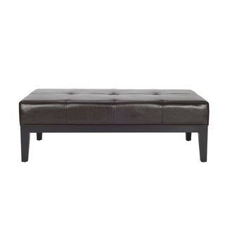 Safavieh Fulton Brown Bicast Leather Rectangle Ottoman