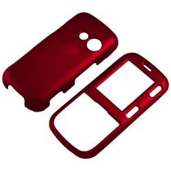 Snap-on Red Rubber Coated Case for LG Cosmos VN250