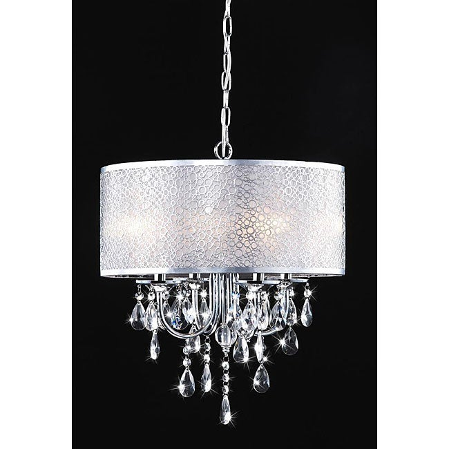 indoor 4 light chrome crystal metal bubble shade chandelier