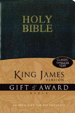Holy Bible: King James Version Black Leather-Look Gift & Award Bible (Paperback)