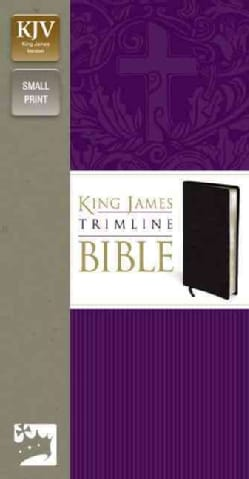 Holy Bible: King James Version Black Bonded Leather, Trimline, Lay Flat, Small Print (Paperback)