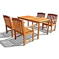 Eucalyptus Wood English Garden XXVII 5-piece Outdoor Dining Set