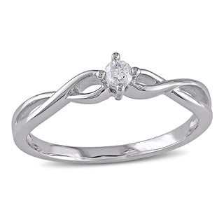 Haylee Jewels 10k Gold 1/10ct TDW Diamond Promise Ring (H-I, I2-I3)