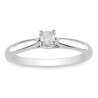 M by Miadora Sterling Silver 1/6ct TDW Diamond Solitaire Ring (H-I, I2-I3) with Bonus Earrings
